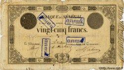 25 Francs type 1854 modifié SÉNÉGAL  1854 P.A.2 pr.B
