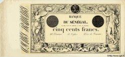 500 Francs type 1874 Noir SÉNÉGAL  1874 P.A.4s pr.NEUF
