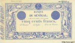 500 Francs type 1874 Bleu SÉNÉGAL  1874 P.A.5s SUP