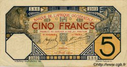 5 Francs DAKAR AFRIQUE OCCIDENTALE FRANÇAISE (1895-1958)  1924 P.05Bb TTB
