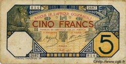 5 Francs DAKAR AFRIQUE OCCIDENTALE FRANÇAISE (1895-1958)  1925 P.05Bc TB