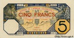 5 Francs DAKAR AFRIQUE OCCIDENTALE FRANÇAISE (1895-1958) Dakar 1925 P.05Bc pr.NEUF