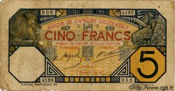 5 Francs DAKAR AFRIQUE OCCIDENTALE FRANÇAISE (1895-1958) Dakar 1928 P.05B var B