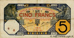 5 Francs DAKAR FRENCH WEST AFRICA Dakar 1929 P.05Be F+