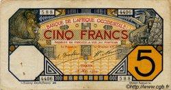 5 Francs DAKAR AFRIQUE OCCIDENTALE FRANÇAISE (1895-1958)  1929 P.05Be TTB