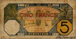 5 Francs DAKAR AFRIQUE OCCIDENTALE FRANÇAISE (1895-1958)  1932 P.05Be AB