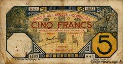 5 Francs DAKAR AFRIQUE OCCIDENTALE FRANÇAISE (1895-1958)  1932 P.05Be B