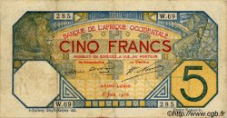 5 Francs SAINT-LOUIS AFRIQUE OCCIDENTALE FRANÇAISE (1895-1958)  1916 P.05Fb pr.TTB