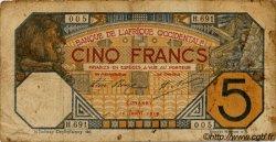 5 Francs CONAKRY AFRIQUE OCCIDENTALE FRANÇAISE (1895-1958) Conakry 1919 P.05Ab B+