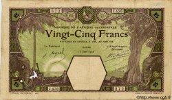 25 Francs DAKAR AFRIQUE OCCIDENTALE FRANÇAISE (1895-1958)  1926 P.07Bb B