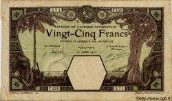 25 Francs PORTO-NOVO AFRIQUE OCCIDENTALE FRANÇAISE (1895-1958)  1923 P.07Eb B+