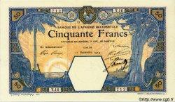 50 Francs DAKAR AFRIQUE OCCIDENTALE FRANÇAISE (1895-1958) Dakar 1919 P.09Ba SUP