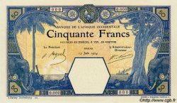 50 Francs DAKAR AFRIQUE OCCIDENTALE FRANÇAISE (1895-1958) Dakar 1924 P.09Bvars pr.NEUF