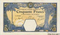 50 Francs DAKAR AFRIQUE OCCIDENTALE FRANÇAISE (1895-1958) Dakar 1926 P.09Bb TTB