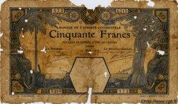 50 Francs DAKAR AFRIQUE OCCIDENTALE FRANÇAISE (1895-1958)  1929 P.09Bc AB
