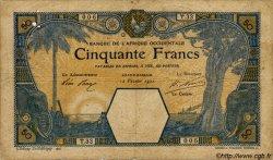 50 Francs GRAND-BASSAM AFRIQUE OCCIDENTALE FRANÇAISE (1895-1958) Grand-Bassam 1920 P.09Da B+