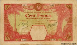 100 Francs DAKAR AFRIQUE OCCIDENTALE FRANÇAISE (1895-1958)  1924 P.11Ba TB