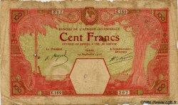 100 Francs DAKAR AFRIQUE OCCIDENTALE FRANÇAISE (1895-1958) Dakar 1926 P.11Bb AB