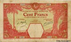 100 Francs CONAKRY AFRIQUE OCCIDENTALE FRANÇAISE (1895-1958) Conakry 1924 P.10Ac B à TB