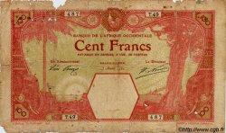 100 Francs AFRIQUE OCCIDENTALE FRANÇAISE (1895-1958) GRAND-BASSAM 1920 P.11Dc AB