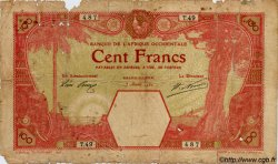 100 Francs GRAND-BASSAM AFRIQUE OCCIDENTALE FRANÇAISE (1895-1958) Grand-Bassam 1920 P.11Dc AB