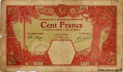 100 Francs AFRIQUE OCCIDENTALE FRANÇAISE (1895-1958) Grand-Bassam 1920 P.11Dc B