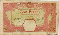 100 Francs AFRIQUE OCCIDENTALE FRANÇAISE (1895-1958) GRAND-BASSAM 1924 P.11Dd B+