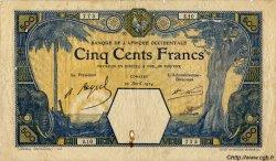 500 Francs CONAKRY AFRIQUE OCCIDENTALE FRANÇAISE (1895-1958) Conakry 1924 P.13Ac TB