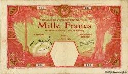 1000 Francs AFRIQUE OCCIDENTALE FRANÇAISE (1895-1958) DAKAR 1924 P.15B TB