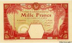 1000 Francs AFRIQUE OCCIDENTALE FRANÇAISE (1895-1958) PORTO-NOVO 1902 P.15-s pr.NEUF