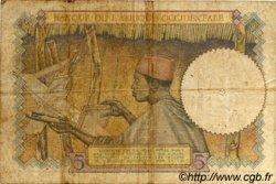 5 Francs AFRIQUE OCCIDENTALE FRANÇAISE (1895-1958)  1934 P.21 B+
