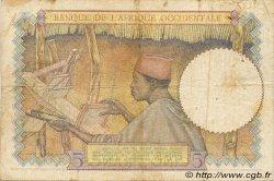 5 Francs type 1934 AFRIQUE OCCIDENTALE FRANÇAISE (1895-1958)  1935 P.21 TB+