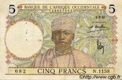 5 Francs type 1934 AFRIQUE OCCIDENTALE FRANÇAISE (1895-1958)  1935 P.21 TTB