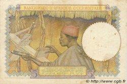 5 Francs type 1934 AFRIQUE OCCIDENTALE FRANÇAISE (1895-1958)  1936 P.21 TTB+