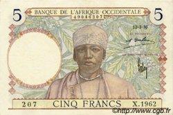 5 Francs type 1934 AFRIQUE OCCIDENTALE FRANÇAISE (1895-1958)  1936 P.21 SPL
