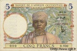 5 Francs AFRIQUE OCCIDENTALE FRANÇAISE (1895-1958)  1934 P.21s SPL