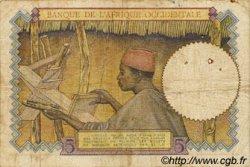 5 Francs type 1934 AFRIQUE OCCIDENTALE FRANÇAISE (1895-1958)  1937 P.21 B+