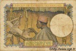 5 Francs AFRIQUE OCCIDENTALE FRANÇAISE (1895-1958)  1937 P.21 TB