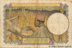 5 Francs type 1934 AFRIQUE OCCIDENTALE FRANÇAISE (1895-1958)  1937 P.21 TTB