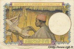 5 Francs type 1934 AFRIQUE OCCIDENTALE FRANÇAISE (1895-1958)  1937 P.21 TTB à SUP