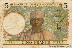 5 Francs  FRENCH WEST AFRICA  1937 P.21