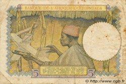 5 Francs type 1934 AFRIQUE OCCIDENTALE FRANÇAISE (1895-1958)  1937 P.21 TB