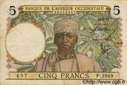 5 Francs  FRENCH WEST AFRICA  1937 P.21 BB