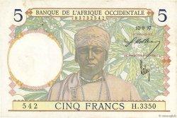 5 Francs type 1934 AFRIQUE OCCIDENTALE FRANÇAISE (1895-1958)  1937 P.21 SUP