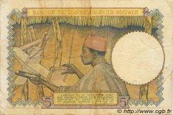 5 Francs type 1934 AFRIQUE OCCIDENTALE FRANÇAISE (1895-1958)  1938 P.21 TTB