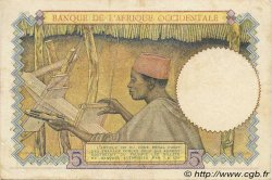 5 Francs type 1934 AFRIQUE OCCIDENTALE FRANÇAISE (1895-1958)  1938 P.21 TTB+