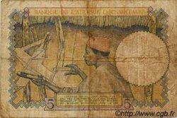 5 Francs type 1934 AFRIQUE OCCIDENTALE FRANÇAISE (1895-1958)  1939 P.21 B+