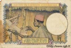 5 Francs type 1934 AFRIQUE OCCIDENTALE FRANÇAISE (1895-1958)  1939 P.21 TB