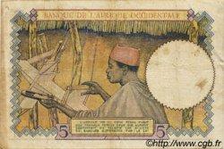 5 Francs type 1934 AFRIQUE OCCIDENTALE FRANÇAISE (1895-1958)  1939 P.21 TTB