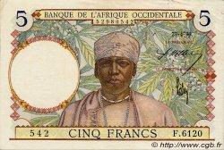 5 Francs type 1934 AFRIQUE OCCIDENTALE FRANÇAISE (1895-1958)  1939 P.21 SUP